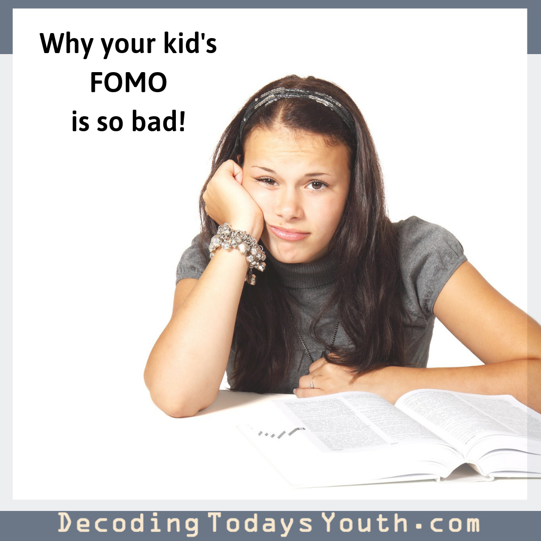 Today's technology makes your child's FOMO even worse!